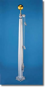 External Halyard Outdoor Flagpoles